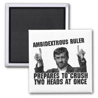 Regla ambidextra imán cuadrado