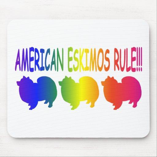 Regla americana de los esquimales alfombrillas de ratón