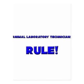 ¡Regla animal de los técnicos de laboratorio! Postales