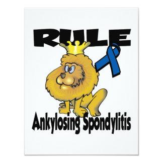 Regla Ankylosing Spondylitis Invitación 10,8 X 13,9 Cm