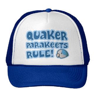 Regla azul de los Parakeets del Quaker Gorros