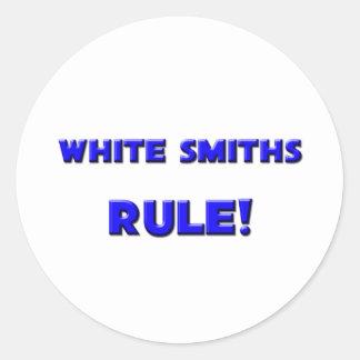 ¡Regla blanca de los forjadores! Pegatinas Redondas