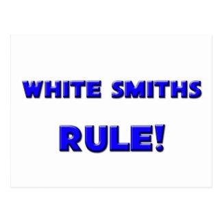 ¡Regla blanca de los forjadores Postales