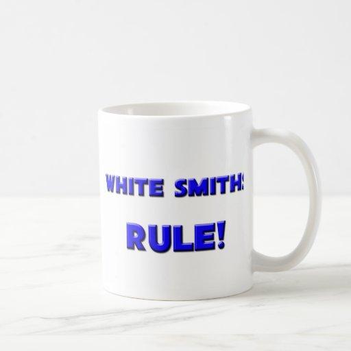 ¡Regla blanca de los forjadores! Tazas De Café