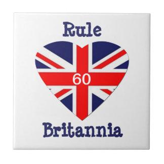 ¡Regla Britannia! corazón de 60-Union Jack Azulejos Ceramicos