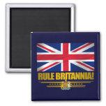 ¡Regla Britannia! Imán Cuadrado