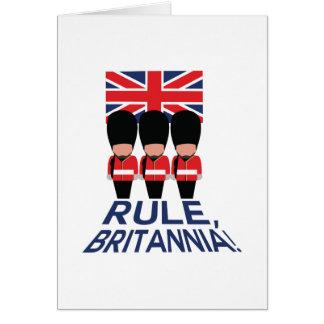 Regla Britannia Tarjeta De Felicitación