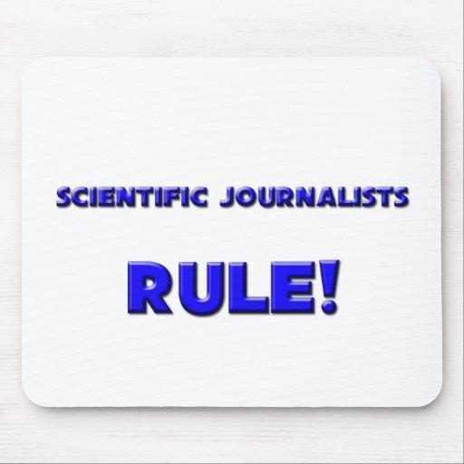 ¡Regla científica de los periodistas! Alfombrillas De Ratones