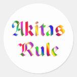 Regla de Akitas Etiqueta Redonda