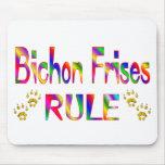 Regla de Bichon Frises Alfombrilla De Ratón