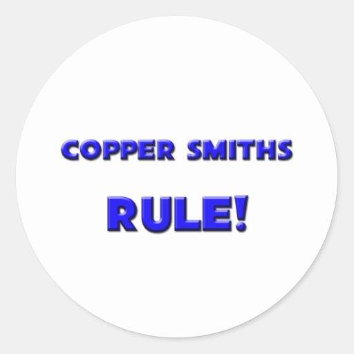 ¡Regla de cobre de los forjadores! Pegatina Redonda