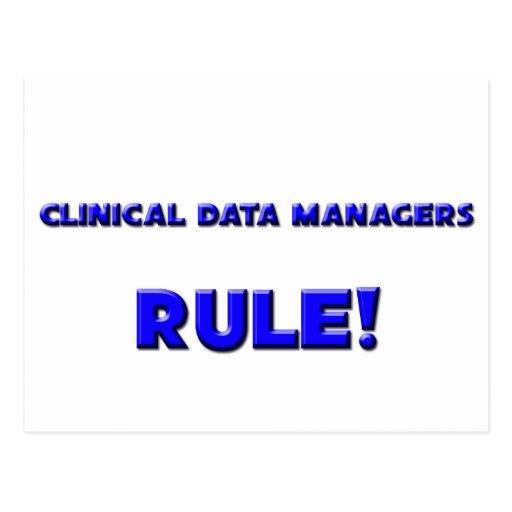 ¡Regla de encargados clínica de los datos! Postal