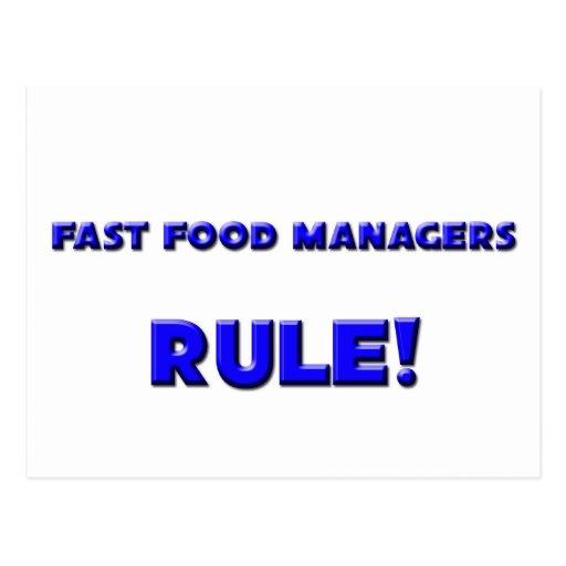 ¡Regla de encargados de los alimentos de Tarjetas Postales