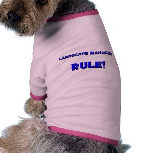¡Regla de encargados del paisaje! Camisetas De Perrito