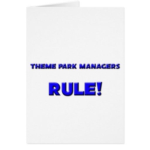 ¡Regla de encargados del parque temático! Tarjeta De Felicitación