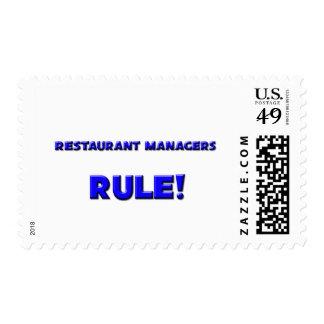 ¡Regla de encargados del restaurante! Sello