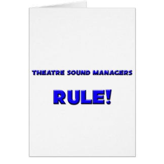 ¡Regla de encargados sana del teatro! Felicitacion