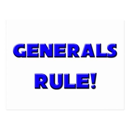 ¡Regla de generales! Postal