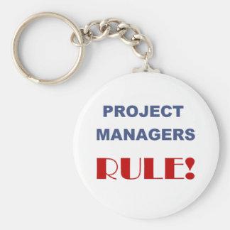 ¡Regla de gestor de proyecto! Llavero Redondo Tipo Pin