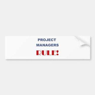 ¡Regla de gestor de proyecto! Pegatina Para Auto