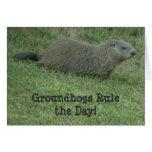 Regla de Groundhogs el día - tarjeta del día de la