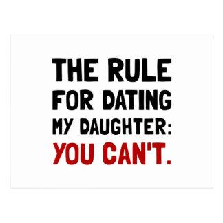 Regla de la hija de la datación tarjeta postal