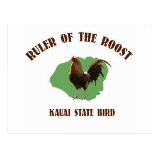 Regla de la postal de Kauai del gallinero