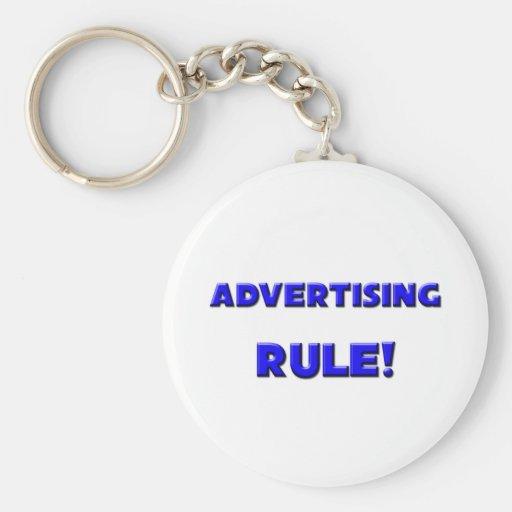 ¡Regla de la publicidad! Llavero