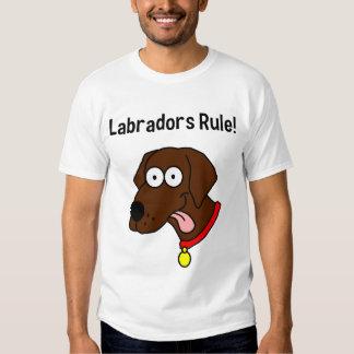 """""""Regla de Labradors!"""" La camiseta de los hombres Remera"""