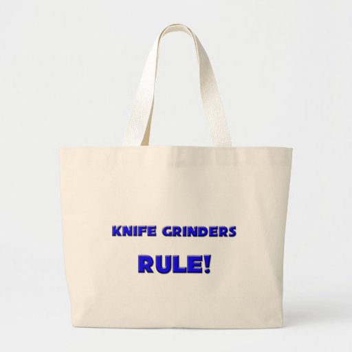 ¡Regla de las amoladoras del cuchillo! Bolsa Tela Grande