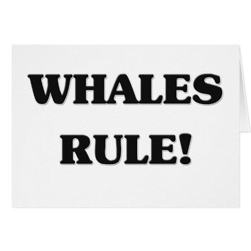 Regla de las ballenas tarjeta de felicitación