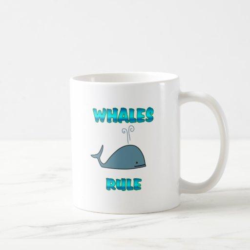 Regla de las ballenas taza básica blanca