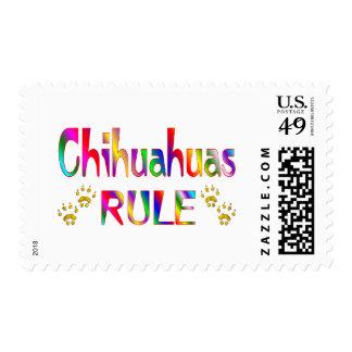 Regla de las chihuahuas franqueo