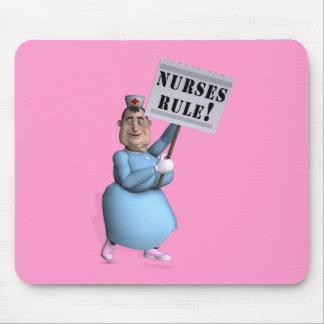¡Regla de las enfermeras! Alfombrillas De Raton