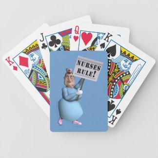 ¡Regla de las enfermeras! Baraja Cartas De Poker