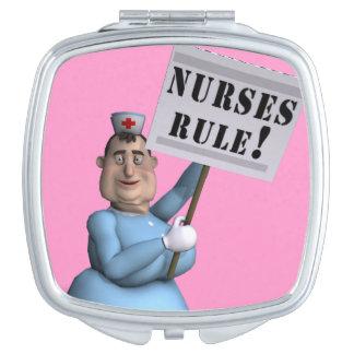 ¡Regla de las enfermeras! Espejos De Viaje