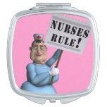 ¡Regla de las enfermeras! Espejos Maquillaje