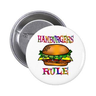 Regla de las hamburguesas pin redondo de 2 pulgadas
