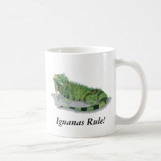 ¡Regla de las iguanas! Taza Básica Blanca