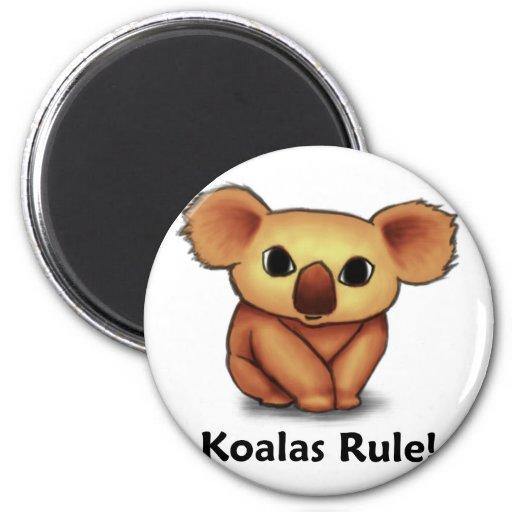 ¡Regla de las koalas! Imán De Frigorífico