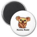 ¡Regla de las koalas! Imanes De Nevera