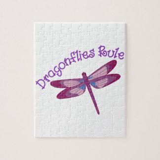 Regla de las libélulas rompecabezas con fotos