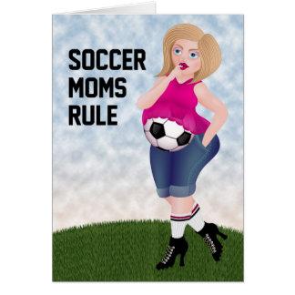 Regla de las mamáes del fútbol - tarjeta divertida