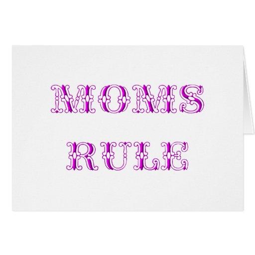 Regla de las mamáes felicitaciones