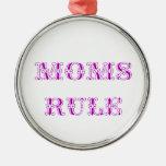 Regla de las mamáes ornamento de navidad