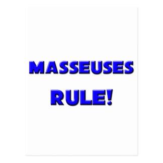 ¡Regla de las masajistas Postal