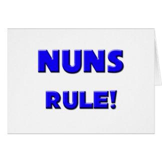 ¡Regla de las monjas! Tarjeta De Felicitación
