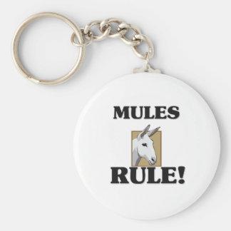 ¡Regla de las MULAS! Llavero Redondo Tipo Pin