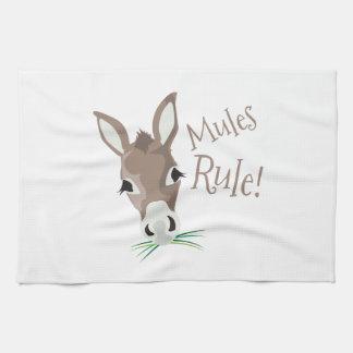 Regla de las mulas toalla de cocina