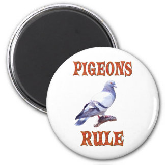 Regla de las palomas iman de nevera
